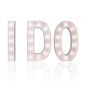 "Lichtletters XL ""I DO"""