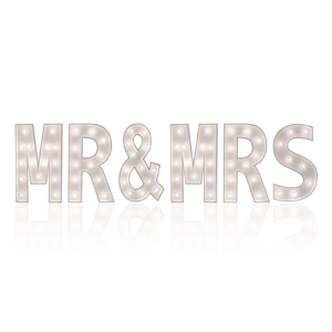 "Lichtletters XL ""MR & MRS"""